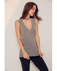Truly Madly Deeply | Gray Cut It Out Muscle Tank Top | Lyst