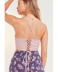 Silence + Noise | Pink All Tied Up Cropped Cami | Lyst