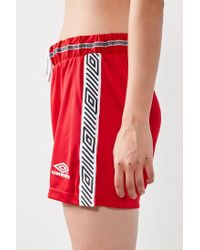 Umbro - Red X Uo Striped Logo Short - Lyst