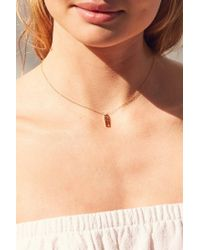 Seoul Little - Metallic 14k Gold Plated Girl Power Necklace - Lyst