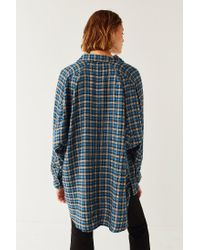 BDG - Blue Brendan Cozy Flannel Button-down Shirt - Lyst