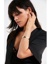 Urban Outfitters - Metallic Chain Cuff Bracelet - Lyst