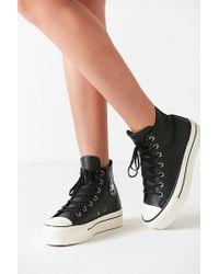 Converse | Black Chuck Taylor All Star Platform High Top Sneaker | Lyst