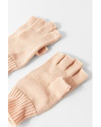 Urban Outfitters - Natural Basic Knit Fingerless Glove - Lyst