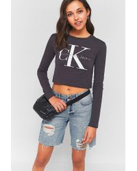 Calvin Klein | Black Metallic Petrol Spill Packable Rain Mac Jacket | Lyst