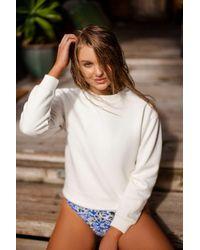 Out From Under - Blue Winnie Printed Cross-strap Bikini Bottom - Lyst