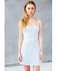 Kimchi Blue | Blue Floral Jacquard Mini Dress | Lyst