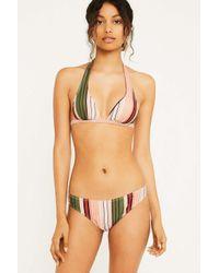 41738dfb7afa0 Urban Outfitters Uo Vintage Stripe Halter Bikini Top - Womens S in ...