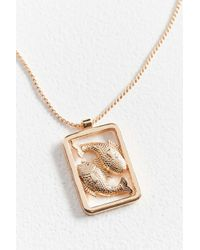 Urban Outfitters - Metallic Fish Statement Pendant Necklace - Lyst