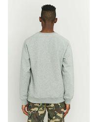 Stussy - Gray Grey Stock Raglan Sweatshirt for Men - Lyst