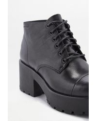 Vagabond - Dioon Lace-up Chunky Black Leather Ankle Boots - Lyst