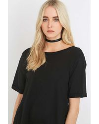 Urban Outfitters | Wide Black Satin Choker Necklace | Lyst