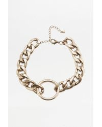 Urban Outfitters - Metallic Super Chunky Chain Choker Necklace - Lyst