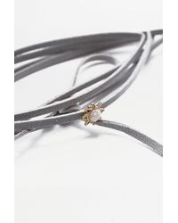 Urban Outfitters - Gray Stone Wrap And Chain Bolo Set - Lyst