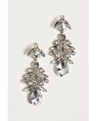 Urban Outfitters - Metallic Large Rhinestone Cluster Drop Earrings - Lyst
