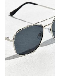 Urban Outfitters - Black Square Aviator Sunglasses - Lyst