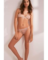 Bluebella - Pink Lyra Lace Thong - Lyst