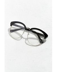 Urban Outfitters - Black Rounded Half-frame Readers - Lyst
