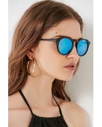 Urban Outfitters - Black Every Day Classic Round Sunglasses - Lyst