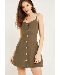 dd6e24b73a Urban Outfitters Uo Linen Button-through Ladder Back Dress - Womens ...