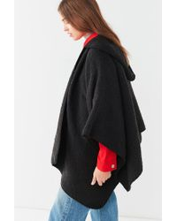 Urban Outfitters - Black Cozy Hoodie Poncho - Lyst