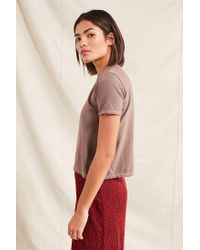 Urban Outfitters - Purple Remade Overdyed Crew-neck Tee - Lyst