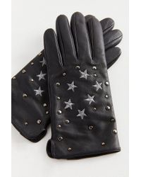 Urban Outfitters - Black Star Embellished Leather Glove - Lyst