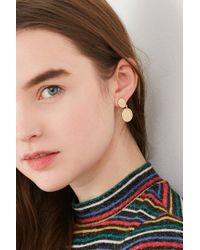 Urban Outfitters - Metallic Double Dot Drop Post Earring - Lyst