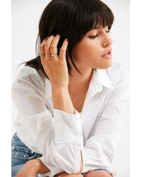 Urban Outfitters - Metallic Scattered Pearl Ring Set - Lyst