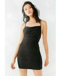 Urban Outfitters - Black Uo Jagger Cowl Neck Bodycon Mini Dress - Lyst