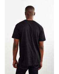 Urban Outfitters - Black Embroidered Rose T-shirt for Men - Lyst
