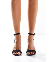 Urban Outfitters - Black Thin Ankle Strap Heel - Lyst