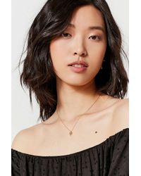 Urban Outfitters - Metallic Palm Tree Charm Necklace - Lyst