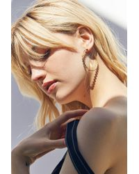 Urban Outfitters | Metallic Callista Geometric Hoop Earring | Lyst