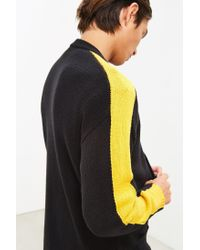 Urban Outfitters - Black Uo Varsity Cardigan Sweater for Men - Lyst