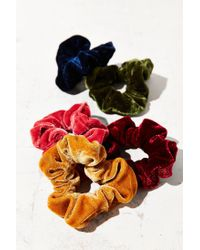 Urban Outfitters - Multicolor Velvet Hair Scrunchie Set - Lyst