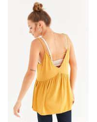 Urban Outfitters - Yellow Uo Strappy Swing Tank Top - Lyst