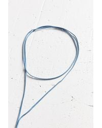 Urban Outfitters - Blue Denim Wrap Choker Necklace - Lyst