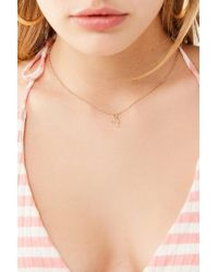 Urban Outfitters - Metallic Mini Doodle Heart Charm Necklace - Lyst