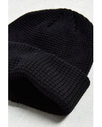 Urban Outfitters - Black Uo Waffle Beanie for Men - Lyst