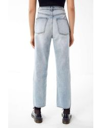 BDG - Blue High-rise Destroyed Relaxed Straight Jean - Lyst