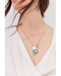 Urban Outfitters - Metallic Celestial Charm Pendant Necklace - Lyst