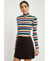 4d7855392aba Urban Outfitters. Green Uo Shelly Twill Button-down Mini Skirt - Womens M