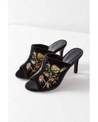 Urban Outfitters - Black Zoe Embroidered Mule Heel - Lyst
