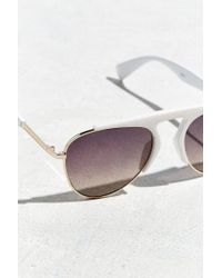 Urban Outfitters - White Aviator Club Hybrid Sunglasses - Lyst