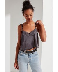 Urban Outfitters - Gray Urban Renewal Remade Slip Cami - Lyst
