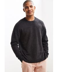Urban Outfitters - Gray Uo Lofty Wool Crew Neck Sweater for Men - Lyst