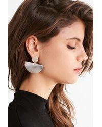 Urban Outfitters - Metallic Half Moon Drop Statement Earring - Lyst