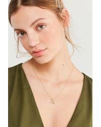 Urban Outfitters - Metallic Flying Sparrow Charm Necklace - Lyst