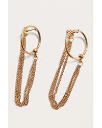Urban Outfitters - Metallic Chain Loop Hoop Earrings - Womens All - Lyst